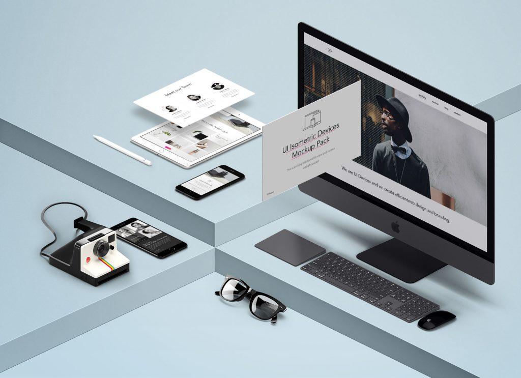 Free Responsive Website Mockup Devices Presentation